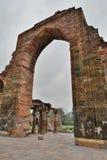 Site archéologique de Qutb Minar delhi l'Inde Images libres de droits