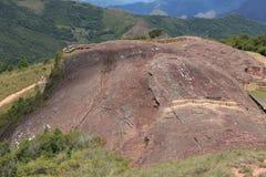 Site archéologique El Fuerte de Samaipata, Bolivie images libres de droits