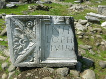 Site archéologique en Roumanie Photographie stock libre de droits