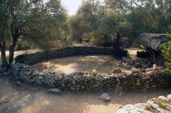 Site archéologique en Sardaigne. images stock