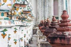 Site archéologique en Wat Arun Photo libre de droits