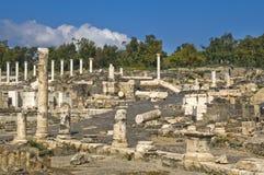Site archéologique romain antique image libre de droits