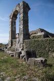 Site archéologique de Carsulae en Italie Photographie stock