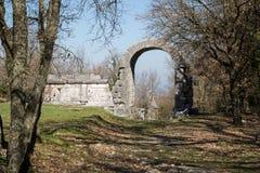 Site archéologique de Carsulae en Italie Images stock