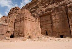 Site archéologique de PETRA, Jordanie Photographie stock libre de droits