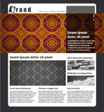 Site art template. Vector Website Design Template. Modern Layout Royalty Free Stock Image