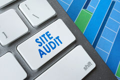 Site audit. Words Site audit on a computer keyboard royalty free stock photo