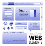 Site-Auslegung-Elemente Stockbild
