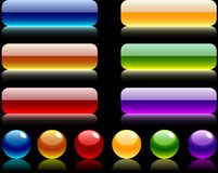 Site bars and buttons. Royalty Free Stock Photography