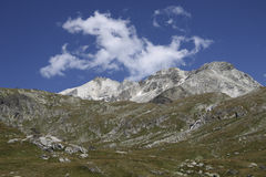 Site of the bottom Aussois,france Royalty Free Stock Photos