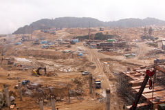 site boueux de construction Photos stock