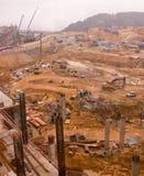 site boueux de construction Photos libres de droits