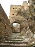 Site of the Castle of usson ,france stock photography