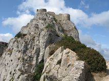 Site of the chateau of peyrepertuse, France Stock Images