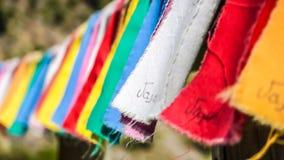 Site commémoratif au barrage de Vajont avec les vêtements colorés, Vénétie, Italie images libres de droits