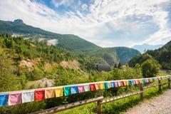 Site commémoratif au barrage de Vajont en Vénétie, Italie photo stock