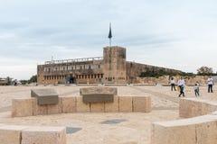 Site commémoratif et le musée blindé de corps dans Latrun, Israël images stock