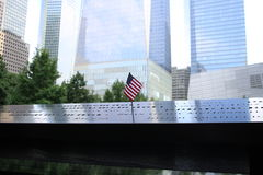 9/11 site commémoratif, World Trade Center, NYC Image stock