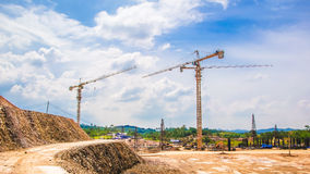 Site construction. Site construction with in Thailand Royalty Free Stock Photos