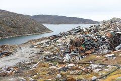 Site d'élimination des déchets au Groenland Images stock