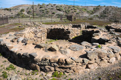 Site d'archéologie en Îles Canaries Photographie stock libre de droits