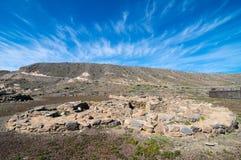 Site d'archéologie en Îles Canaries Images libres de droits
