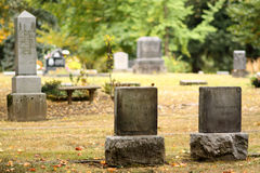 Site d'enterrement image stock