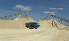 Site d'extraction de sable Photographie stock libre de droits
