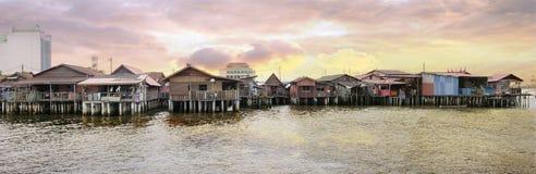 Site d'héritage de jetée de mastication à Penang images stock