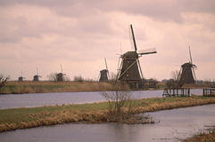 Site d'héritage de l'UNESCO - Kinderdijk photo stock