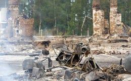 Site d'un incendie Photographie stock