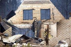 Site d'un incendie Photo libre de droits
