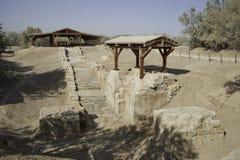 Site de baptême dans le fleuve Jourdain photographie stock libre de droits