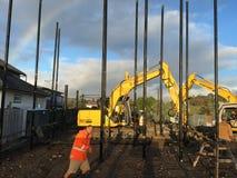 Site de base de travailleurs de la construction Photos stock