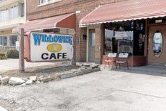 Site de café de Willowick de barre tirant le 13 avril 2018 Photo libre de droits