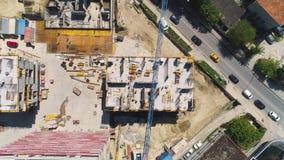Site de construction de bâtiments banque de vidéos