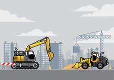 Site de construction de bâtiments illustration libre de droits