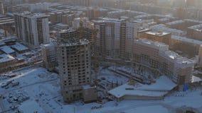 Site de construction de bâtiments, nouveau développement de secteurs, nouvelle création d'emplois, tir de bourdon clips vidéos