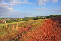 Site de construction de routes Images stock