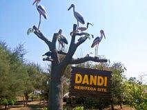 Site de Dandi Heritega - mahatma Gandhiji Image libre de droits
