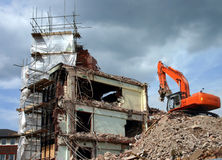 Site de Demoltion Photos stock