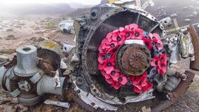 Site de l'accident du ` au-dessus du ` exposé dans Derbyshire, R-U photos stock