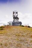 Site de micro-onde de sommet de montagne Photos stock