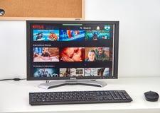 Site de Netflix sur le PC images libres de droits