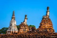 Site de patrimoine mondial à Ayutthaya, Thaïlande Photos stock