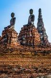 Site de patrimoine mondial à Ayutthaya, Thaïlande Photo libre de droits