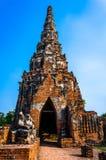 Site de patrimoine mondial à Ayutthaya, Thaïlande Photographie stock