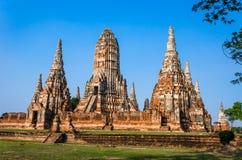 Site de patrimoine mondial à Ayutthaya, Thaïlande Images stock
