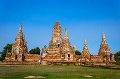 , Site de patrimoine mondial à Ayutthaya, Thaïlande Images libres de droits