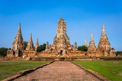 Site de patrimoine mondial à Ayutthaya, Thaïlande Photos libres de droits